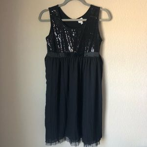 Black Sequin Dress with tie Size XL extra large